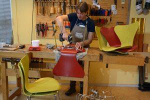 Fritz hansen 7 series repair chair butterfly vlinderstoel reparatie