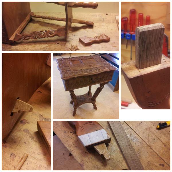 tafelpoot gebroken verhuisschade meubel antiek